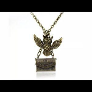Harry Potter acceptance letter owl necklace